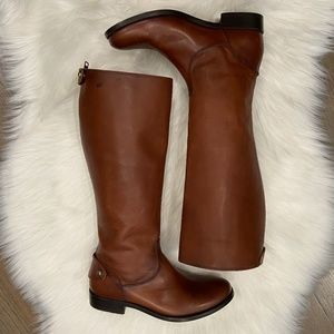 NEW Frye Melissa Button Back Zip Boot - Wide Calf